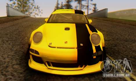 Porsche 911 GT3 R 2009 Black Yellow para GTA San Andreas vista interior
