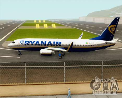 Boeing 737-8AS Ryanair para GTA San Andreas vista interior