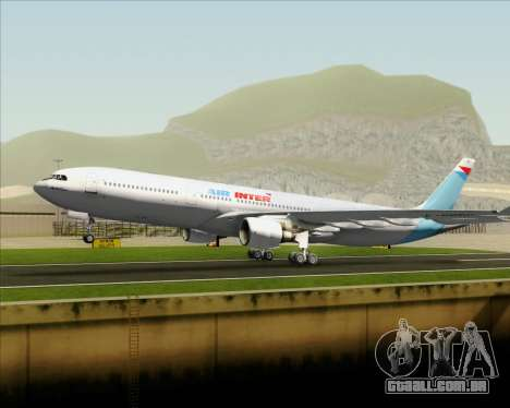 Airbus A330-300 Air Inter para o motor de GTA San Andreas