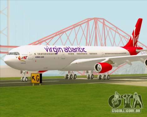 Airbus A340-313 Virgin Atlantic Airways para GTA San Andreas vista superior