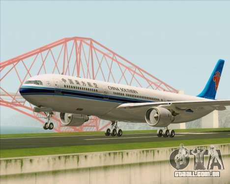 Airbus A330-300 China Southern Airlines para GTA San Andreas esquerda vista