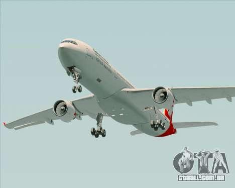 Airbus A330-300 Qantas para GTA San Andreas vista superior