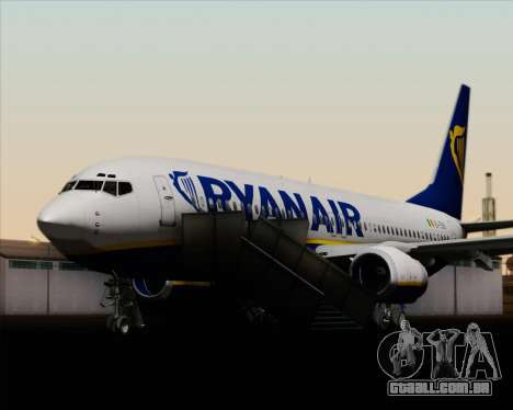 Boeing 737-8AS Ryanair para as rodas de GTA San Andreas
