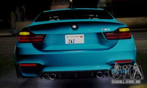 BMW M4 2014 para GTA San Andreas vista direita
