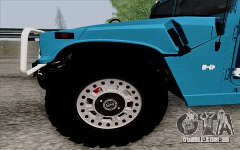 Hummer H1 Alpha 2006 Road version para GTA San Andreas esquerda vista