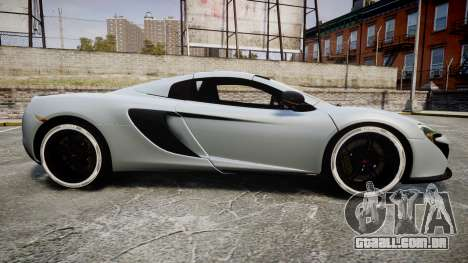 McLaren 650S Spider 2014 [EPM] KUMHO para GTA 4 esquerda vista