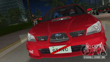 Subaru Impreza WRX STI 2006 Type 1 para GTA Vice City vista traseira