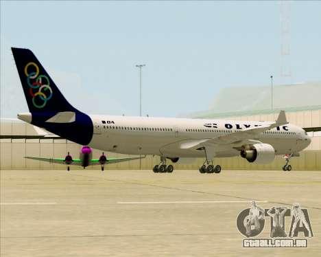 Airbus A330-300 Olympic Airlines para GTA San Andreas traseira esquerda vista