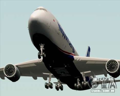 Boeing 747-8 Cargo Nippon Cargo Airlines para vista lateral GTA San Andreas