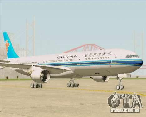 Airbus A330-300 China Southern Airlines para GTA San Andreas traseira esquerda vista