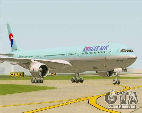 Airbus A330-300 Korean Air para GTA San Andreas traseira esquerda vista