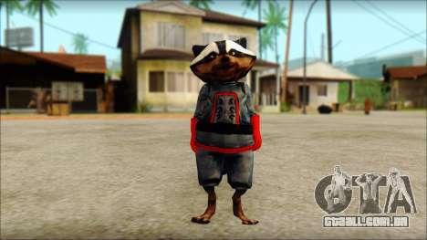 Guardians of the Galaxy Rocket Raccoon v1 para GTA San Andreas