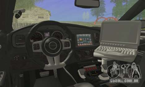 Dodge Charger ViPD 2012 para GTA San Andreas traseira esquerda vista