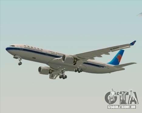 Airbus A330-300 China Southern Airlines para GTA San Andreas vista interior