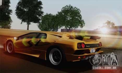 Lamborghini Diablo SV 1995 (HQLM) para GTA San Andreas esquerda vista