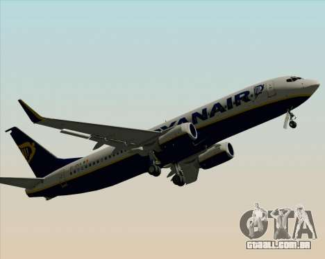 Boeing 737-8AS Ryanair para GTA San Andreas vista inferior
