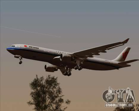 Airbus A330-300 Air China para GTA San Andreas vista interior
