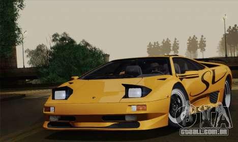 Lamborghini Diablo SV 1995 (ImVehFT) para GTA San Andreas traseira esquerda vista
