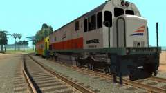 GE U18C CC 201 Indonesian Locomotive para GTA San Andreas