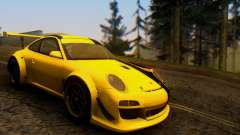 Porsche 911 GT3 R 2009 Black Yellow para GTA San Andreas