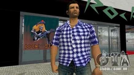 Kockas polo - sotetkek T-Shirt para GTA Vice City