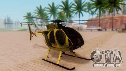 O MD500E helicóptero v2 para GTA San Andreas