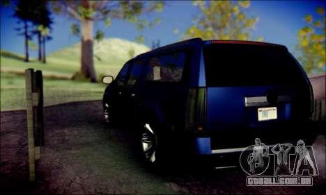 Cadillac Escalade Ninja para GTA San Andreas vista traseira