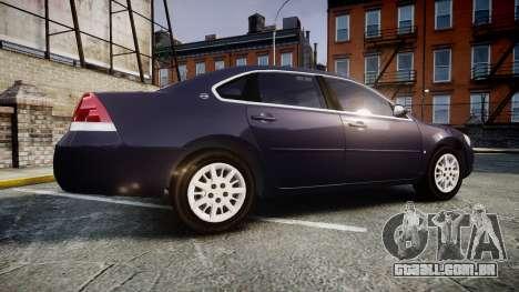 Chevrolet Impala 2010 Undercover [ELS] para GTA 4 esquerda vista