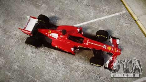Ferrari F138 v2.0 [RIV] Alonso TSD para GTA 4 vista direita