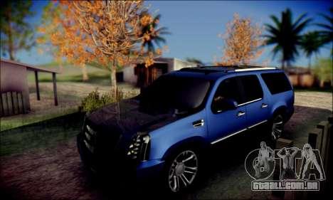 Cadillac Escalade Ninja para GTA San Andreas vista interior