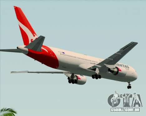 Boeing 767-300ER Qantas (New Colors) para GTA San Andreas vista direita