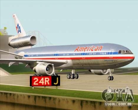 McDonnell Douglas DC-10-30 American Airlines para GTA San Andreas vista interior