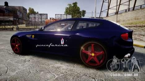 Ferrari FF 2012 Pininfarina Blue para GTA 4 esquerda vista