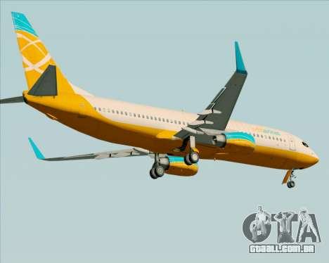Boeing 737-800 Orbit Airlines para GTA San Andreas vista inferior