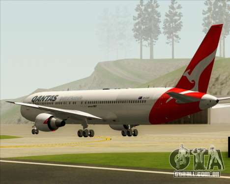 Boeing 767-300ER Qantas (New Colors) para GTA San Andreas vista interior