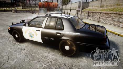 Ford Crown Victoria CHP CVPI Liberty [ELS] para GTA 4 esquerda vista
