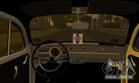 Volkswagen Beetle para GTA San Andreas traseira esquerda vista