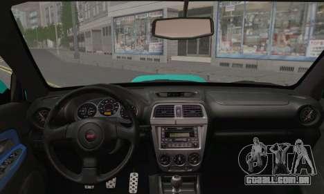 Subaru Impreza RC para GTA San Andreas traseira esquerda vista
