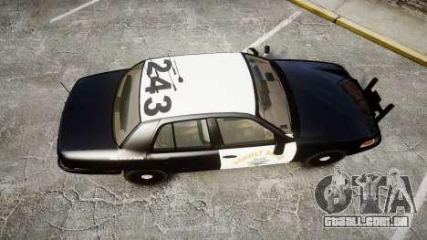 Ford Crown Victoria CHP CVPI Slicktop [ELS] para GTA 4 vista direita
