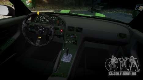Nissan 240SX S13 Tuned para GTA 4 vista interior