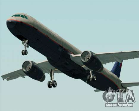 Airbus A321-200 United Airlines para GTA San Andreas vista interior