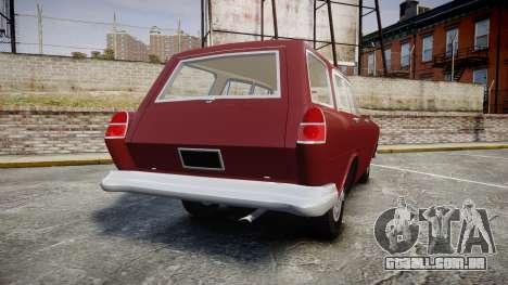 FSO Warszawa Ghia Kombi 1959 para GTA 4 traseira esquerda vista