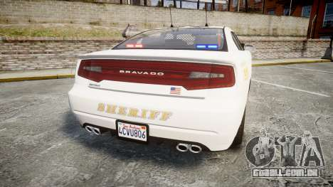 GTA V Bravado Buffalo LS Sheriff White [ELS] Sli para GTA 4 traseira esquerda vista