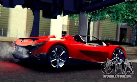 Specter Roadster 2013 (SA Plate) para GTA San Andreas esquerda vista