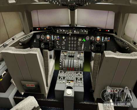 McDonnell Douglas DC-10-30 World Airways para GTA San Andreas interior