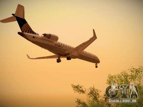 Bombardier CRJ-700 Continental Express para GTA San Andreas traseira esquerda vista