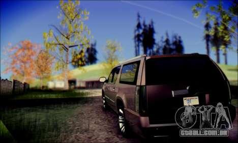 Cadillac Escalade Ninja para GTA San Andreas traseira esquerda vista