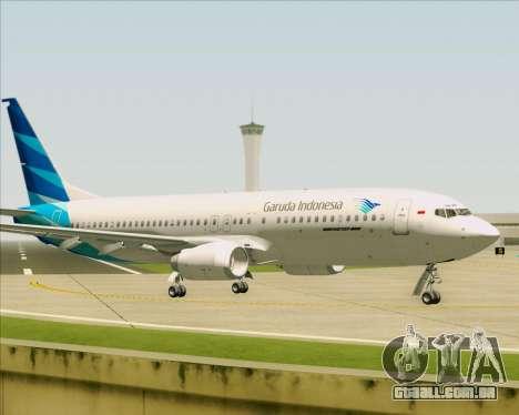 Boeing 737-800 Garuda Indonesia para GTA San Andreas vista traseira
