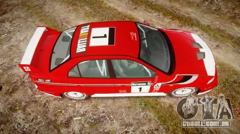 Mitsubishi Lancer Evolution VI 2000 Rally para GTA 4 vista direita