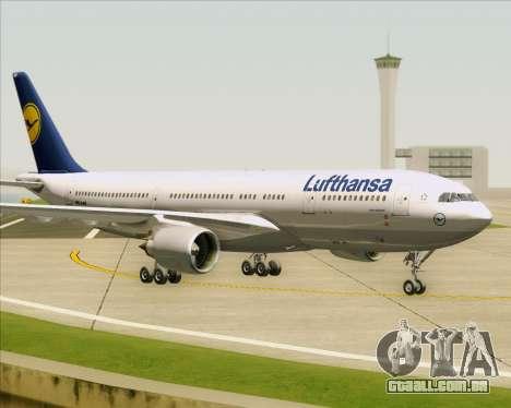 Airbus A330-200 Lufthansa para GTA San Andreas esquerda vista